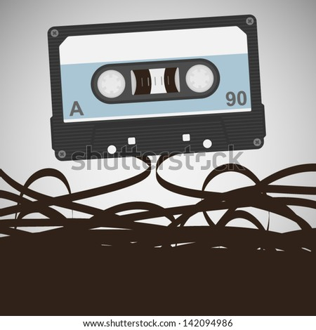 cassettes - stock vector
