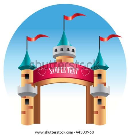 castle background - stock vector
