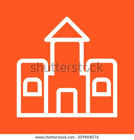 Castle, bouncy, jumping icon vector image.Can also be used for toy and games. Suitable for mobile apps, web apps and print media. - stock vector