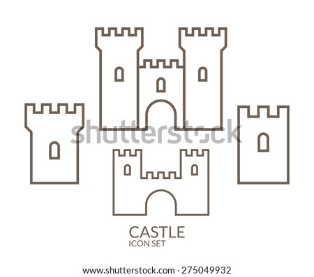 cut out castle template - castle outline stock images royalty free images vectors