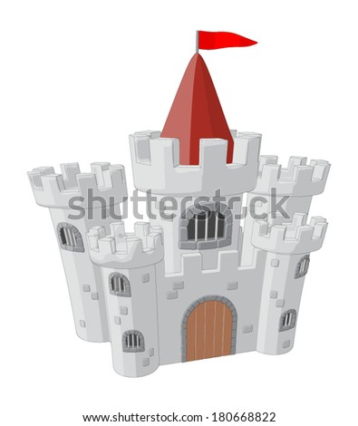 Castle -  Vector Artwork (isolated on white background).