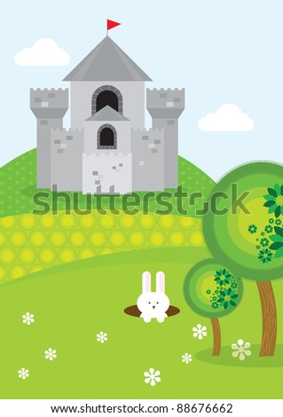 castle vector/illustration