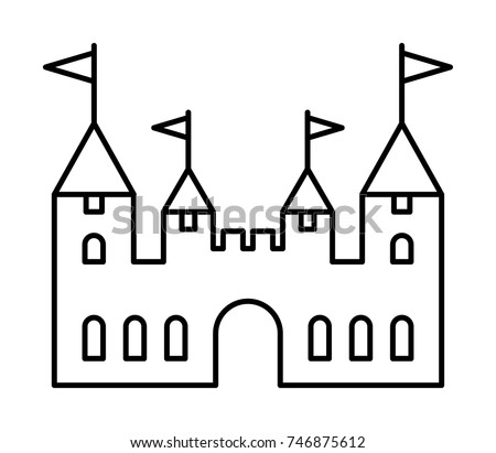 castle outline stock images  royalty free images   vectors gothic border clipart clipart gothic windows