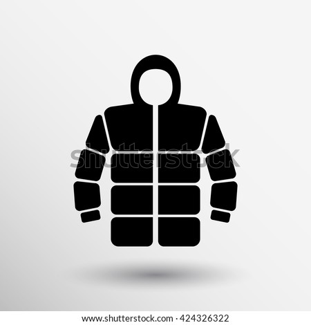 casual jacket icon winter clothing fashion logo. - stock vector