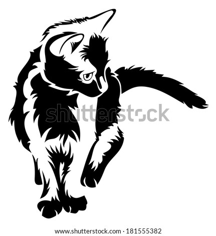 Cat Head Silhouette Stock Photos Images Amp Pictures