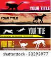 Cat and Dog Web Banner Templates - stock vector