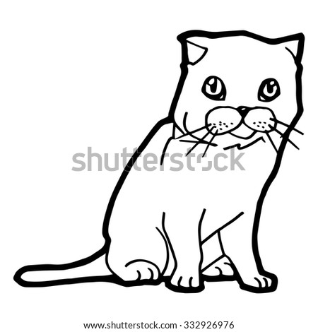 Cat And Kitten Coloring Page For Kid