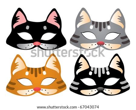Cat Mask - stock vector