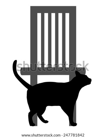 Cat on white - stock vector