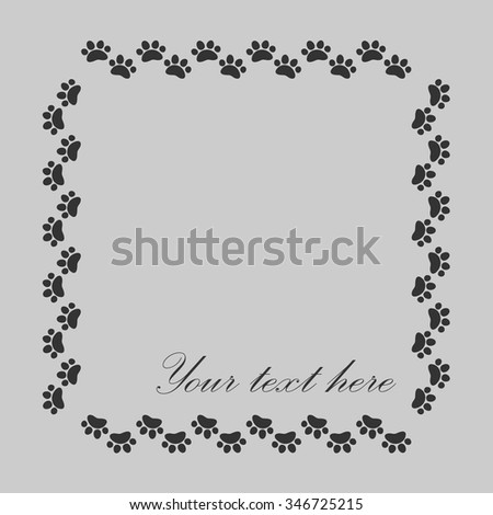 Cat Dog Paw Prints Frame Your Stock Photo (Photo, Vector ...