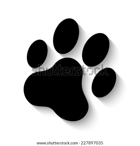 cat paw print icon vector illustration stock vector 227897035