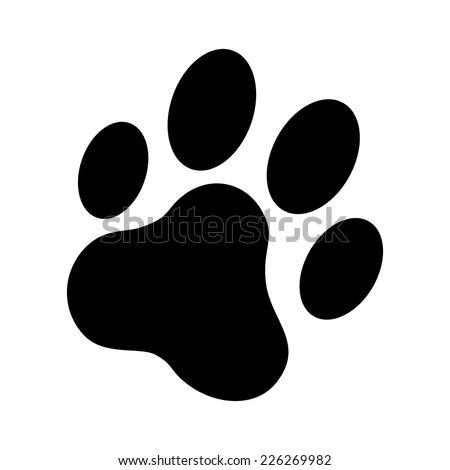 Cat Paw Print Vector Icon Stock Vector