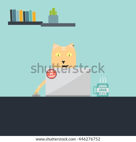cat programmer stock vector 446276752 shutterstock