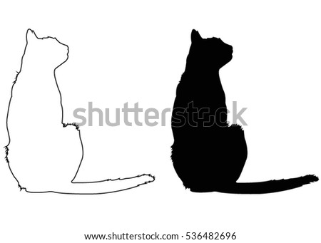 Vector File Cat Silhouette Stock Vector 251394340 - Shutterstock
