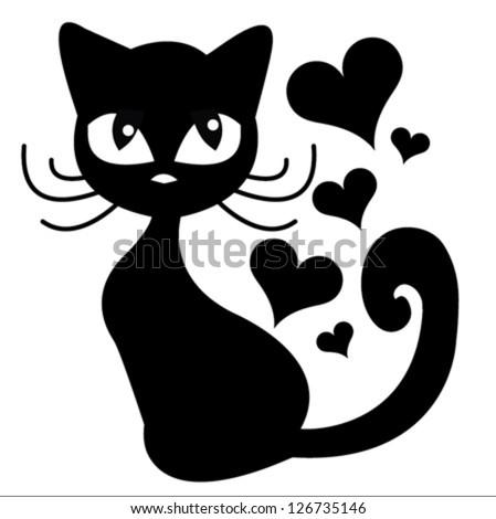 Stock vector cat t shirt graphics cute cartoon characters cute