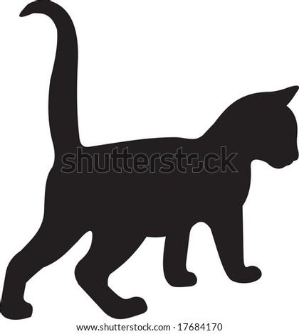 cat, vector - stock vector