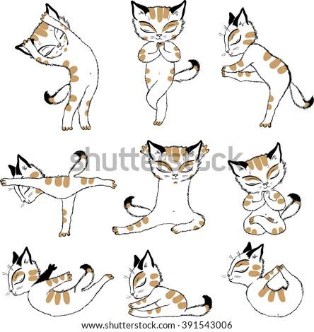 Quot Cat Yoga Quot Stock Images Royalty Free Images Amp Vectors
