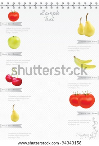 Catalog Template Set - stock vector