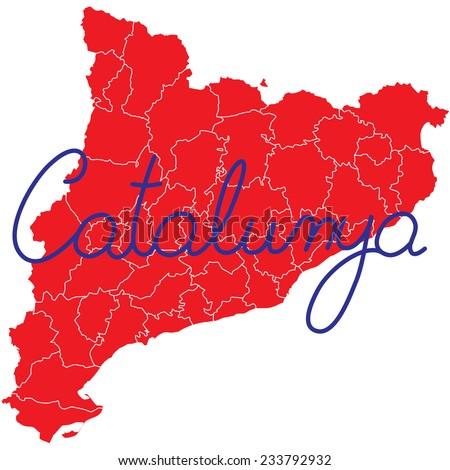 catalonia - stock vector