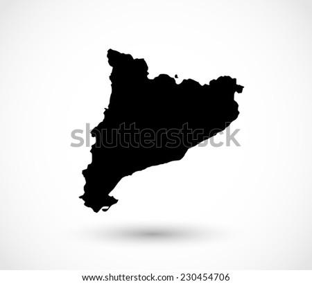 Catalonia shape vector - stock vector