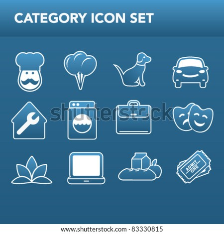 Category Icons Vector - stock vector