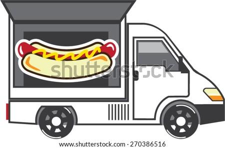 Catering Van vector Food Truck - stock vector