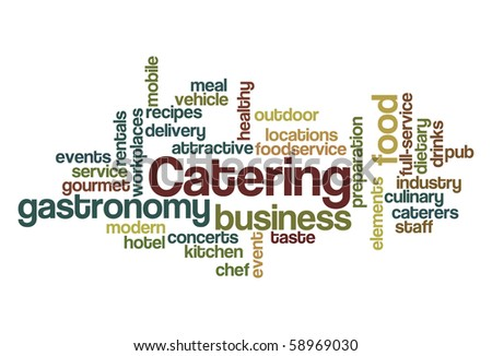 Catering - Word Cloud - stock vector