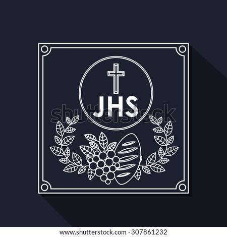 Catholic digital design, vector illustration eps 10 - stock vector