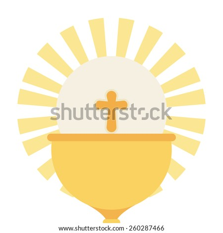 catholic religion design, vector illustration eps10 graphic  - stock vector