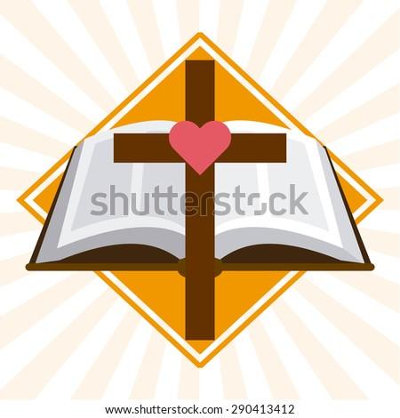 catholic symbol design, vector illustration eps10 graphic  - stock vector