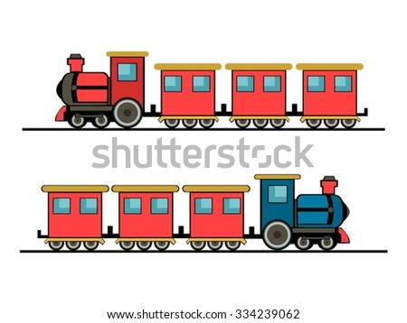 Catoon Train - stock vector