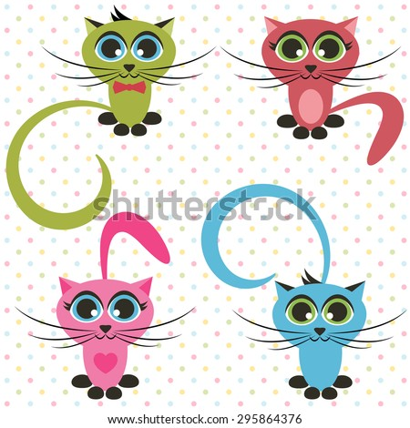 cats - stock vector