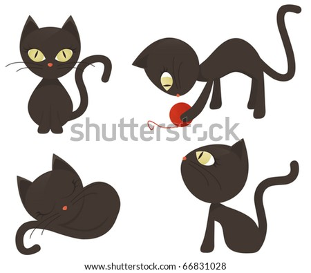 Cats Collection - stock vector
