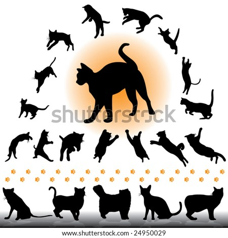cats collection part 1 of 2 - stock vector