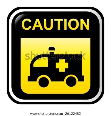 Caution - ambulance - stock vector