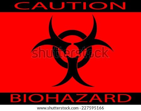 caution bio-hazard sign - white background  - stock vector