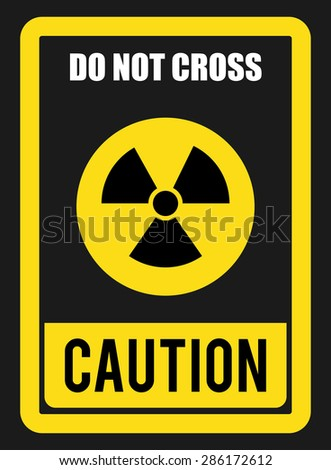 Caution design over gray background, vector illustration.