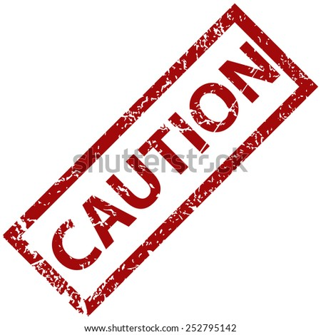 Caution grunge rubber stamp on a white background. Vector illustration - stock vector