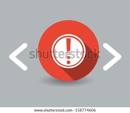 caution icon - stock vector