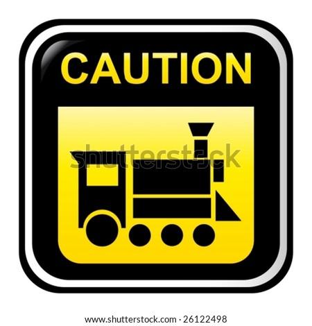 Caution - locomotive - stock vector