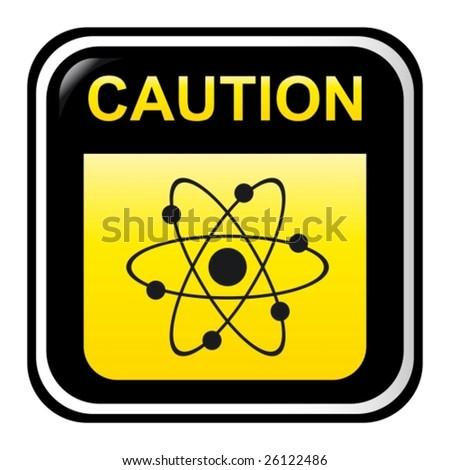 Caution - radioactive - stock vector
