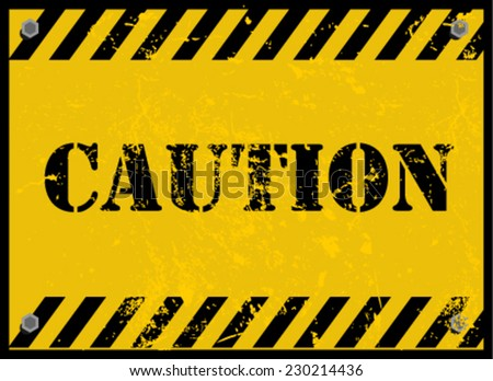 caution, sign - stock vector