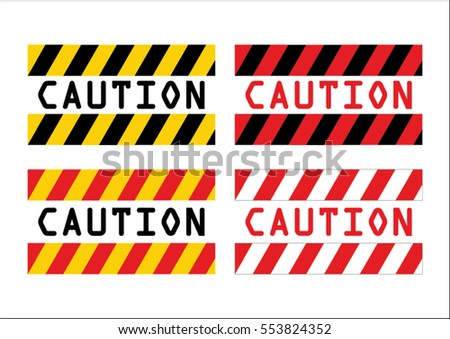 Caution sign  vector illustration for safety first