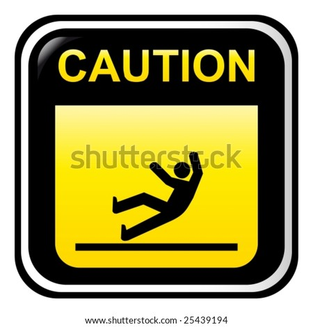 Caution - slippery - stock vector