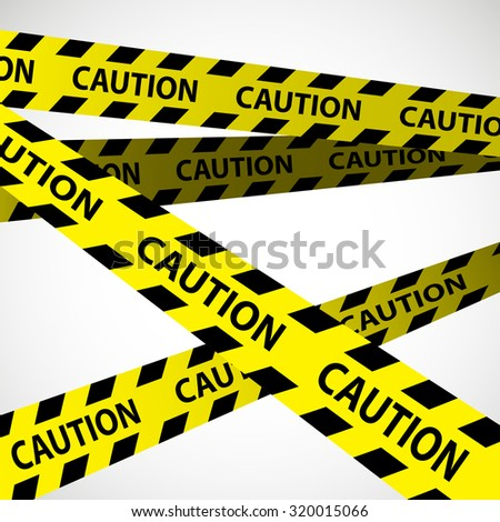 caution tape design on white background, caution stripes