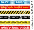 caution tape over white background vector illustration  - stock photo