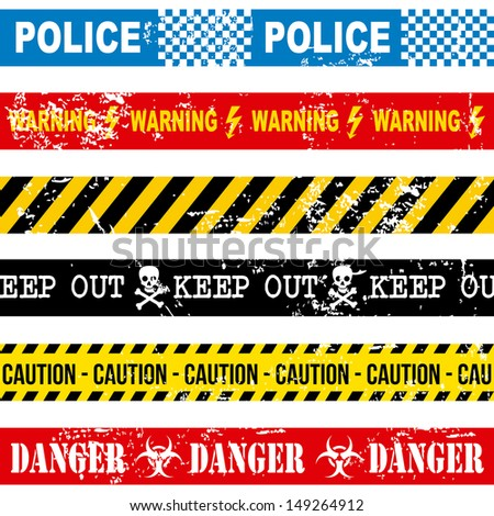 caution tape over white background vector illustration  - stock vector
