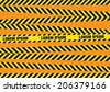 Caution tapes zone - stock photo