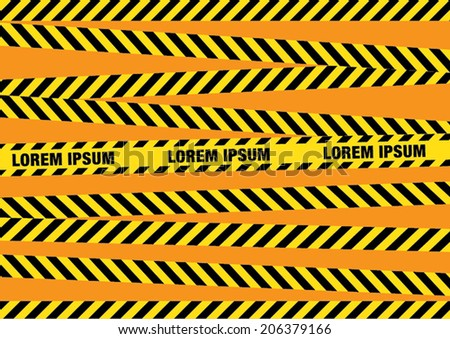 Caution tapes zone - stock vector