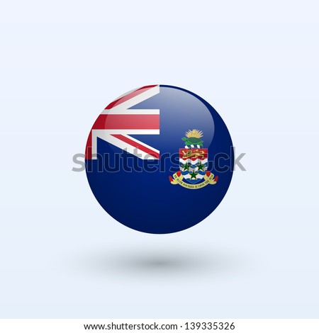 Cayman Islands Round Flag. Vector illustration. - stock vector